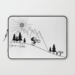 cycling mountain bike mountainbike cyclist bicycle MTB gift Laptop Sleeve