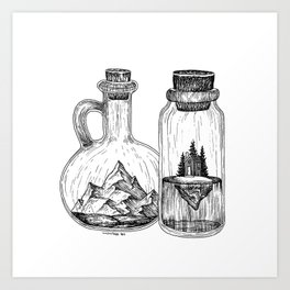 Bottled Dreams Art Print