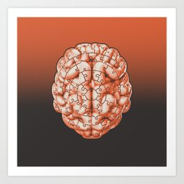 Puzzle brain GINGER / Your brain on puzzles Art Print