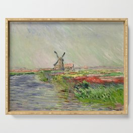 Monet, Tulip Field in Holland, 1886 Serving Tray