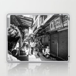 People walking in a street in Old Delhi, India Laptop & iPad Skin
