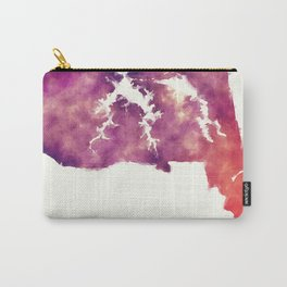 Virginia Beach VA city watercolor map in front of a white background Carry-All Pouch