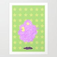 lumpy space princess Art Prints featuring Adventure Time - Lumpy Space Princess by LightningJinx