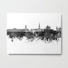 Chesterfield skyline in black watercolor Metal Print