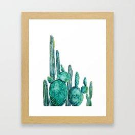 cactus jungle watercolor painting Framed Art Print