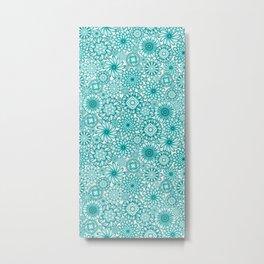 Ceramic Flowers (Atoll) Metal Print