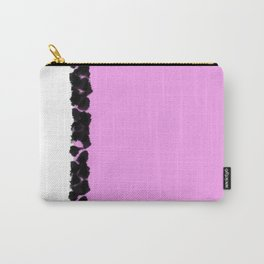 Abstract in Pink & Black Carry-All Pouch