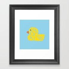 Tanagram Ducky Framed Art Print