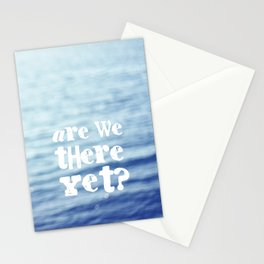 Are We There Yet Stationery Cards