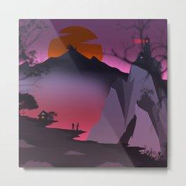 The Dragon Mountain Metal Print