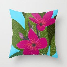 Key West - Pink Plumeria Throw Pillow