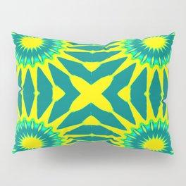 Green & Yellow Pinwheel Flowers Pillow Sham