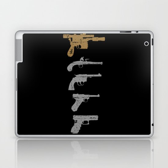 A long time ago with a blaster far, far away... Laptop & iPad Skin