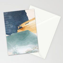 Japanese Abstract Art I Stationery Cards