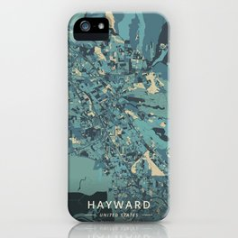 Hayward, United States - Cream Blue iPhone Case