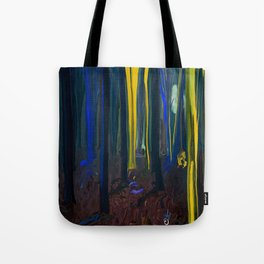Stay Wild Yellow Moon Tote Bag