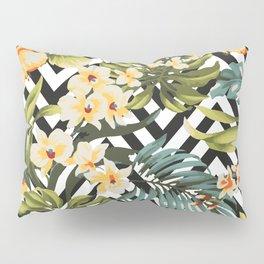 Flowered Chevron Pillow Sham
