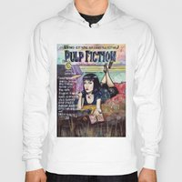 pulp fiction Hoodies featuring Pulp Fiction by Jessis Kunstpunkt.
