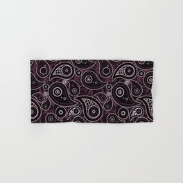 Eggplant Purple Paisley Pattern Hand & Bath Towel