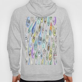 raindrops with personality, cool light gray grey Hoody