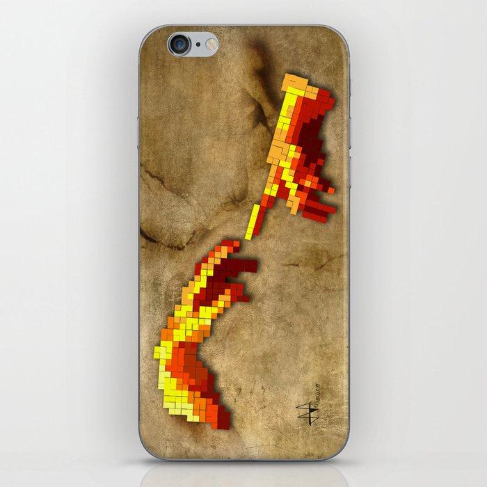 Michelangelo hands. Pixelation iPhone Skin