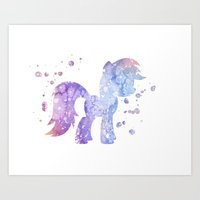 my little pony Art Prints featuring My Little Pony by Carma Zoe