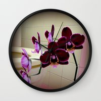 toilet Wall Clocks featuring Oh De Toilet-te  by oneofacard