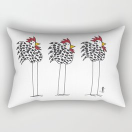 Three Chickens Rectangular Pillow