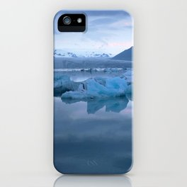 Watercolor Landscape, Jokulsarlon 03, Iceland iPhone Case