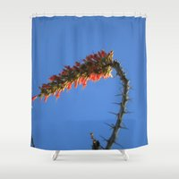 hook Shower Curtains featuring Ocotillo Hook by Mae2Designs