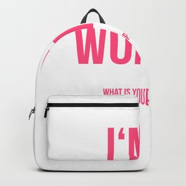 I'am a Woman Backpack