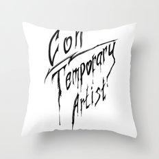 Con|Temporary Artist Throw Pillow