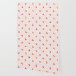 peach pink blobs Wallpaper