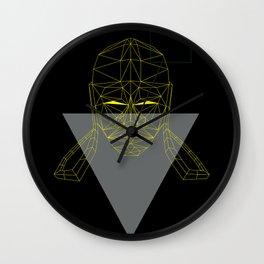 polygon head Wall Clock