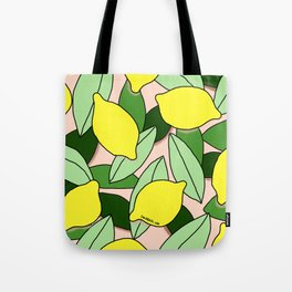Lemons - Lemon Pattern - January Tote Bag