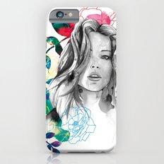 Kristen fashion watercolor portrait iPhone 6s Slim Case