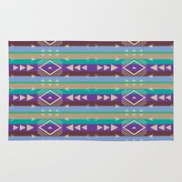 tribal Area & Throw Rugs featuring Tribal by camilla bologna