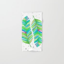 Abstract Tropical Banana Leaves - Green Palette Hand & Bath Towel