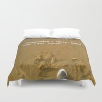 sand Duvet Covers featuring sand by gasponce