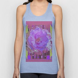 Coral Pink Rose Pattern Art Unisex Tank Top