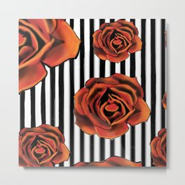 Pin Striped Romance Metal Print