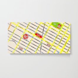 New York map design - empire state building area Metal Print