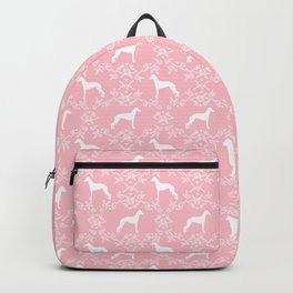 Italian Greyhound silhouette floral dog breed unique pet breed gifts Backpack