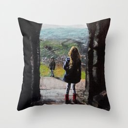 Gazing from the Tor Throw Pillow