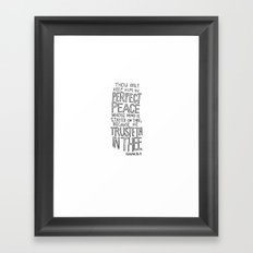 Isaiah 26:3  Framed Art Print