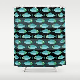 Fisheries dark pattern Shower Curtain