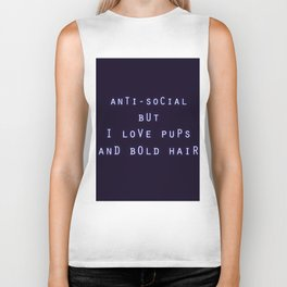 Anti Social But I Love Pups and Bold Hair Biker Tank