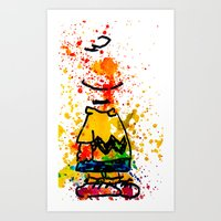 charlie brown Art Prints featuring Charlie Brown by benjamin james