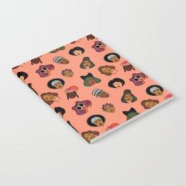 Black Hair Magic (Coral) Notebook