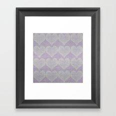 Heart Fabric Framed Art Print
